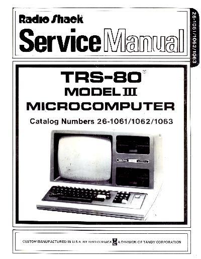 Ira Goldklang's TRS-80 Revived Site » TRS-80 Manuals